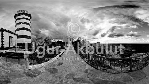 Şile Feneri Siyah Beyaz 2
